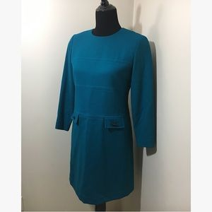 2/$10 Evan Picone Blue Dress 100% Wool